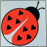 LADY BUG STICKER (Sold by the dozen) NOW ONLY 10 CENTS EACH