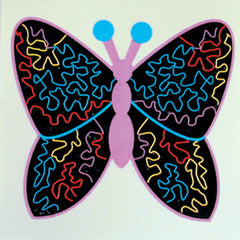 ABSTRACT BUTTERFLY STICKER (Sold by the dozen)