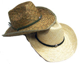 ADULT SIZE ZIG ZAGGED STRAW COWBOY HATS  (Sold by the piece or dozen)