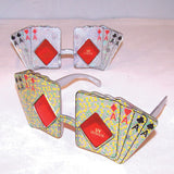 POKER CARDS PARTY GLASSES (Sold by the piece or dozen ) * CLOSEOUT NOW $ 1 EACH