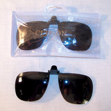 CLIP ON DARK LENSE SUNGLASSES (Sold by the dozen)