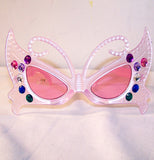 BUTTERFLY WITH JEWELS PARTY GLASSES (Sold by the piece or dozen )
