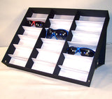 18 PAIR HORIZONTAL STANDUP COVERED SUNGLASS TRAY (Sold by the piece)