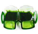 GREEN BEER PARTY GLASSES (Sold by the piece or dozen ) *- CLOSEOUT $ 1 EA
