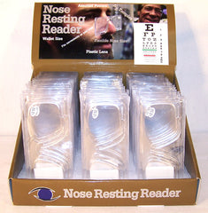 CLIP ON NOSE READERS GLASSE  (Sold by the dozen)  * CLOSEOUT NOW 50 CENTS EA