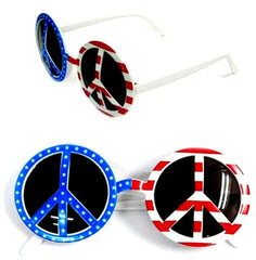 USA PEACE PARTY GLASSES (Sold by the piece OR dozen )