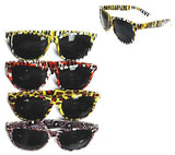 ANIMAL PRINT FRAME SUNGLASSES (Sold by the dozen)