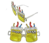 HAPPY BEER DAY PARTY GLASSES (Sold by the piece or dozen ) *- CLOSEOUT $ 1 EA