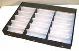 HORIZONTAL 18 PAIR CLEAR COVER SUNGLASS DISPLAY TRAY  (Sold by the piece)
