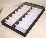 VERTICAL 16 PAIR CLEAR COVER SUNGLASS DISPLAY TRAY  (Sold by the piece) *- CLOSEOUT NOW $15 EA