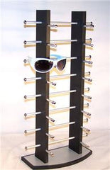 BLACK WOODEN 16 PAIR SUNGLASS DISPLAY COUNTER RACK ( sold by the piece )