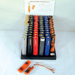 THIN READING GLASSES WITH CASE (Sold by the dozen)