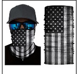 GREY AMERICAN FLAG FACE MULTI FUNCTION SEAMLESS BANANA WRAP ( sold by the piece or dozen )
