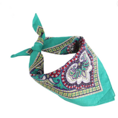 BEAUTIFUL MULTI COLOR PAISLEY DESIGN BANDANNA 2 COLORS! 100% COTTON  ( sold by the piece or dozen )