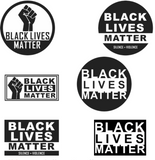 BLACK LIVES MATTER 6 PACK ASSORTED STICKERS (sold by the pack of 6)
