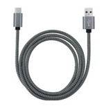 LONG 9 FOOT MICRO USB ANDROID CLOTH BRAIDED CHARGER CORD ( sold by the piece )