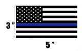BLUE LIVES THIN BLUE LINE AMERICAN FLAG BUMPER STICKER (sold by the piece or dozen)