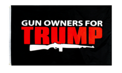 GUN OWNERS FOR DONALD TRUMP 3 X 5 AMERICAN FLAG ( sold by the piece )