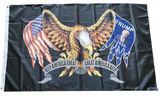 DONALD TRUMP EAGLE WINGS 2020 3 X 5 AMERICAN FLAG ( sold by the piece )