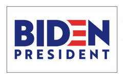 BIDEN FOR PRESIDENT 2020 3 X 5  white flag (sold by the piece)