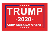 RED DONALD TRUMP 2020 TRUMP 3 X 5 AMERICAN FLAG ( sold by the piece )