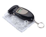 Digital breathalyzer alcohol tester keychain (sold by the piece)
