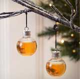 FLASK CHRISTMAS CLEAR FILLABLE ORNAMENT! (sold by the piece, 6 pack or dozen)
