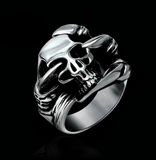 DRAGON CLAW SKULL STEEL  METAL BIKER RING (sold by the piece)
