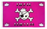 PINK PIRATE PRINCESS 3 X 5 FLAG (sold by the piece)