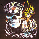 SKELETON CSA BIKER SHORT SLEEVE TEE-SHIRT (Sold by the piece) -* CLOSEOUT $ 2.50 EA