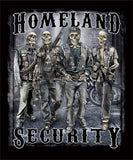 HOMELAND SECURITY SKELETON SOLDIERS SHORT SLEEVE TEE-SHIRT  (Sold by the piece) *- CLOSEOUT AS LOW AS $ 2.95 EA