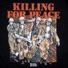 KILLING FOR PEACE SKELETONS BLACK SHORT SLEEVE  TEE-SHIRT ( SOLD BY THE PIECE )