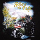 FOLLOW THE EAGLE BLACK SHORT SLEEVE BIKER TEE-SHIRT (Sold by the piece)