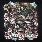 ALWAYS HUSTLIN STACKED SKULLS BLACK SHORT SLEEVE TEE-SHIRT (Sold by the piece)