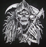 GRIM REAPER WITH SICKLE BLACK SHORT SLEEVE TEE-SHIRT (Sold by the piece) *- CLOSEOUT as LOW AS $ 1.95 EA
