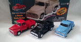 1956 FORD TRUCK PULL BACK DIE CAST CARS (sold by the display)