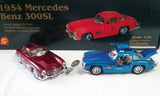 1954 MERCEDES BENZ 300SL DIE CAST CARS (sold by the display)