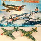 LARGE 8 INCH DIECAST P-51 MUSTANG TOY AIRPLANE (Sold by the display of 6 pcs) CLOSEOUT NOW ONLY $ 2 EA