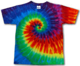 COLOR RAINBOW SWIRLS TYE DYE TEE SHIRT (Sold by the piece)
