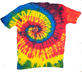 "PETITE "" RASTA "" RAINBOW SWIRL TIE DYED TEE SHIRT (sold by the piece or dozen) * CLOSEOUT NOW ONLY $ 2.95 EA"