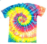 PETITE NEON RAINBOW SWIRL TIE DYED TEE SHIRT (sold by the dozen)