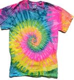 MULTI COLOR RAINBOW SEAFOAM TYE TIE DYED SHORT SLEEVE TEE SHIRT (Sold by the piece) *-CLOSEOUT $ 3.95 EA