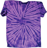 ADULT SIZE PURPLE SPIDER  TYE DYE TEE SHIRT (Sold by the piece)- CLOSEOUT $ 3.95 EA