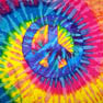PEACE SIGN TYE DYE TEE SHIRT (Sold by the piece)