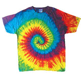 RAINBOW SWIRL TYE DYE TEE SHIRT (Sold by the piece)