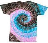 TOUR BUS SWIRL TYE DYE TEE SHIRT (Sold by the piece) -* CLOSEOUT NOW $ 3.95 EACH