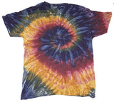 PETITE ADULT SIZE MARDI GRA SWIRL TIE DYED TEE SHIRT (sold by the piece or dozen) * CLOSEOUT NOW ONLY $ 2.50 EA