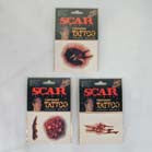 SCAR TATTOO'S (Sold by the dozen) -* CLOSEOUT NOW ONLY 25 CENTS