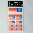 USA FLAG TATTOO'S (Sold by the dozen) -* CLOSEOUT ONLY 25 CENTS EA