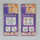 3 PIECE CRYSTAL  JEWEL TATTOO'S (Sold by the dozen) -* CLOSEOUT ONLY 50 CENTS EA